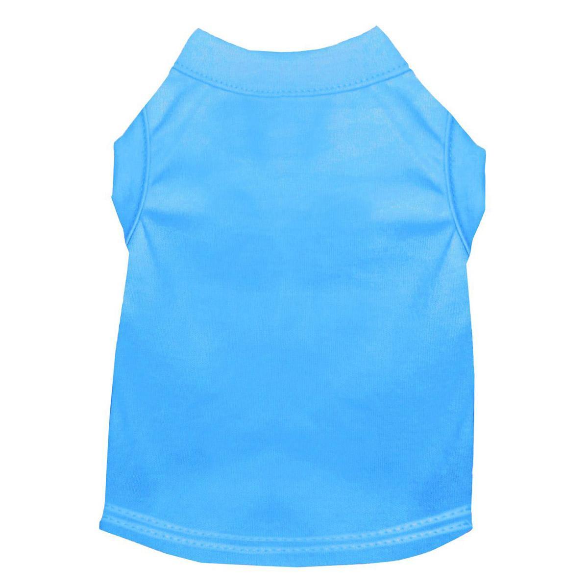 Plain Dog and Cat Shirt - Bermuda Blue
