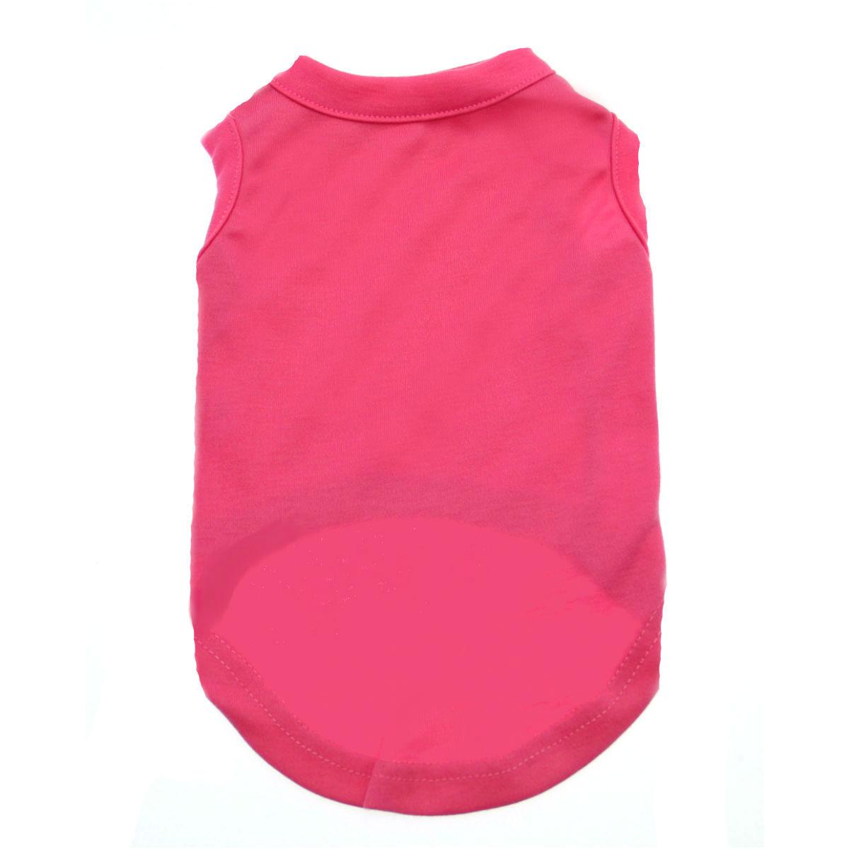 Plain Dog Shirt - Bright Pink