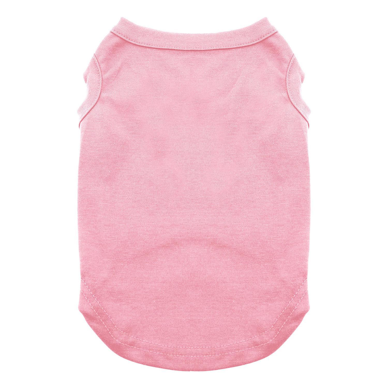 Plain Dog and Cat Shirt - Light Pink