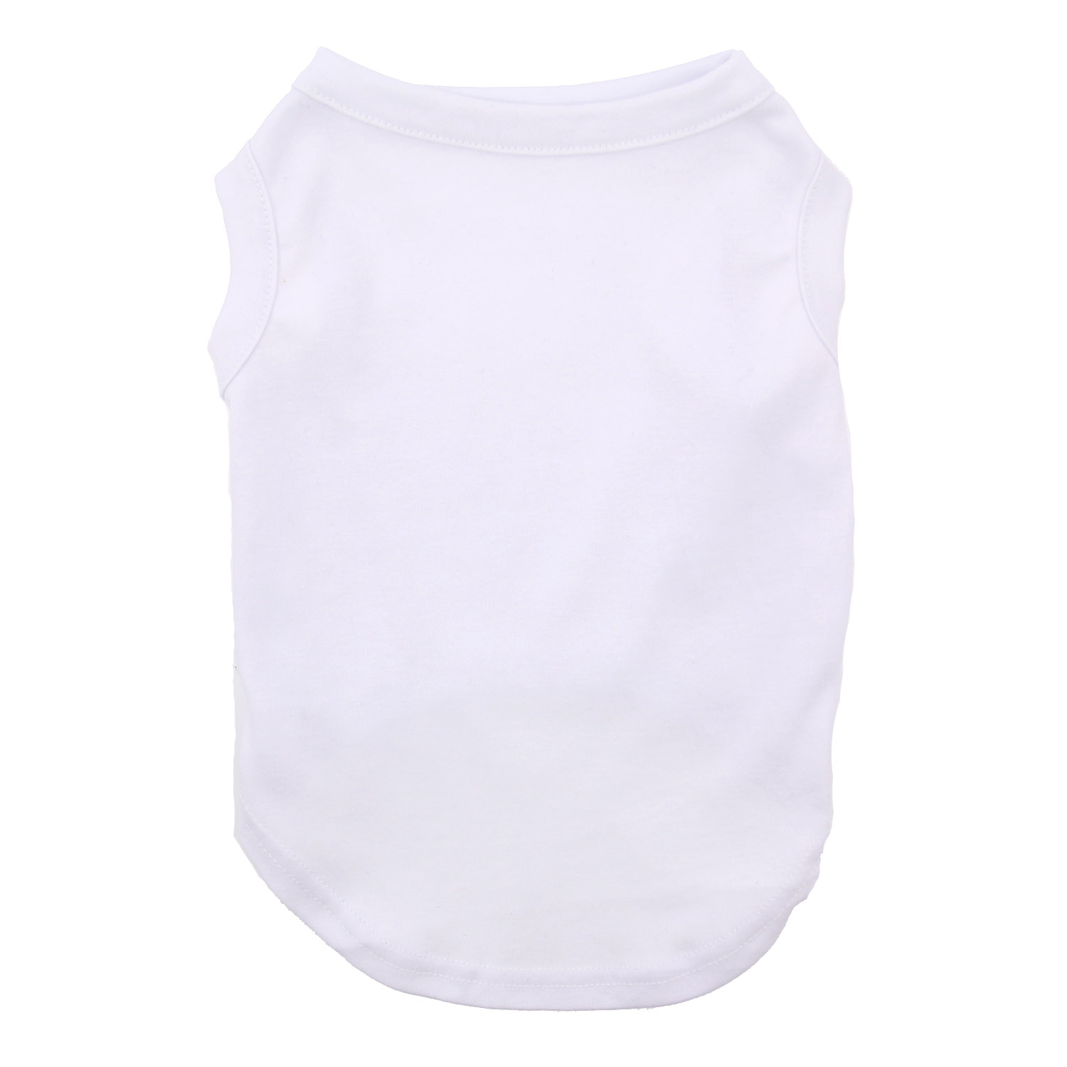 Plain Dog Shirt - White with Same Day Shipping | BaxterBoo