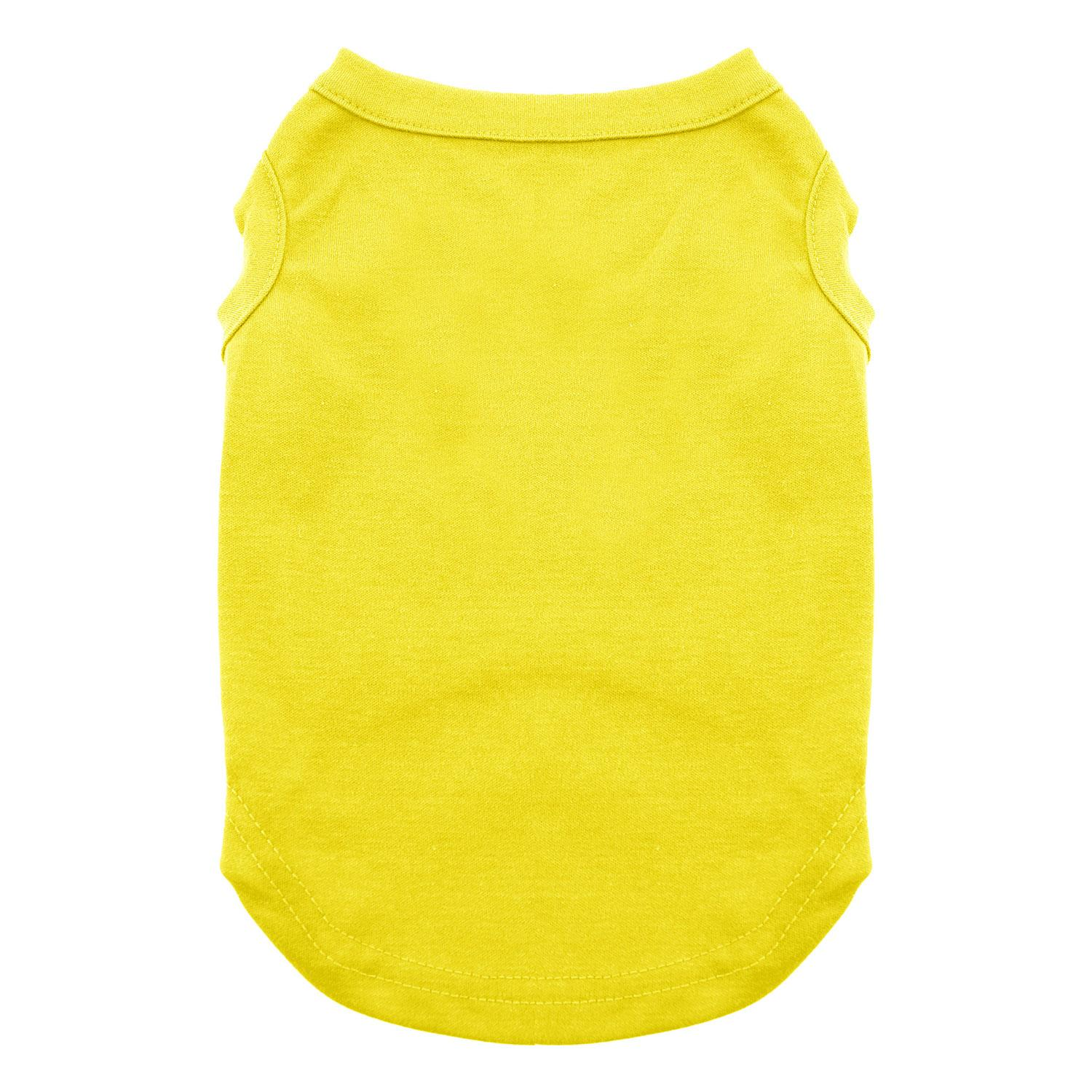Plain Dog and Cat Shirt - Yellow