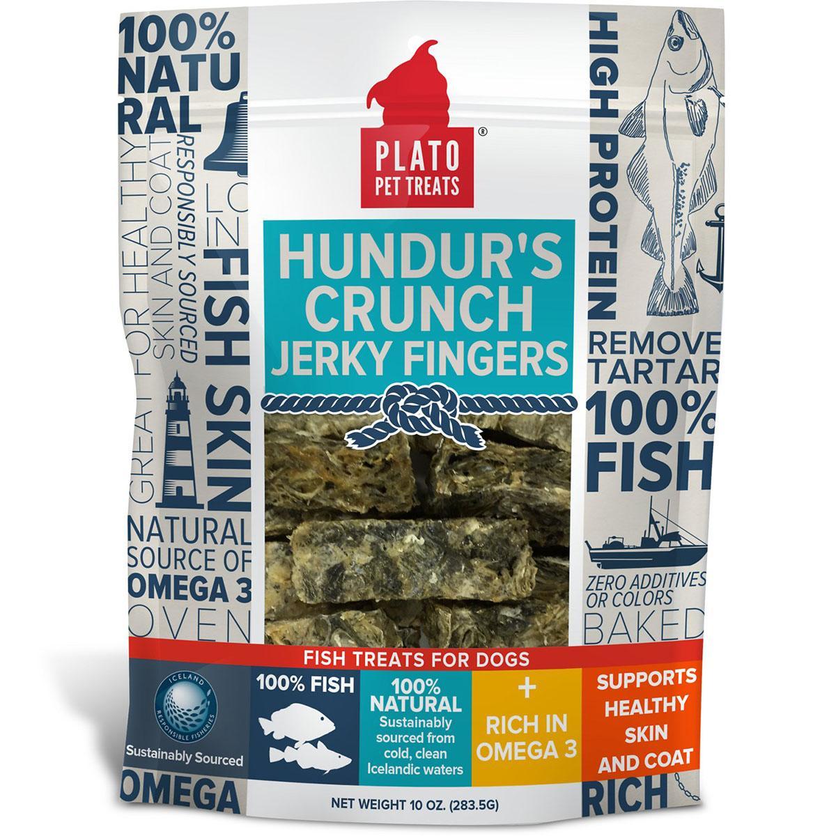 Plato Hundur's Crunch Jerky Fingers Fish Dog Treats