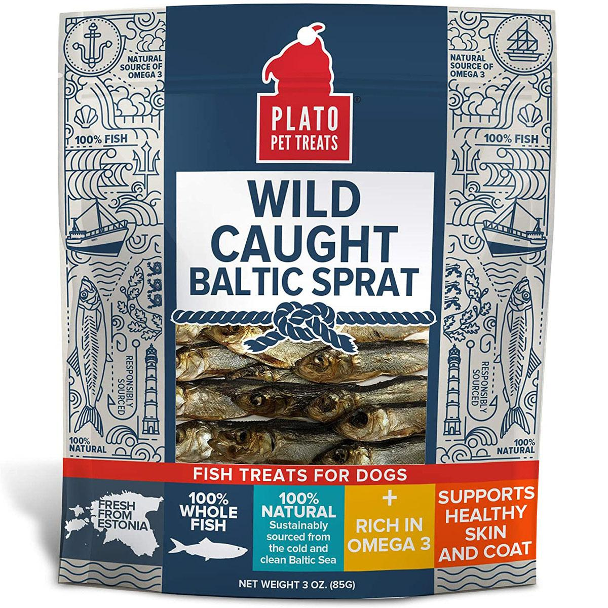 Plato Wild Caught Baltic Sprat Dog Treats