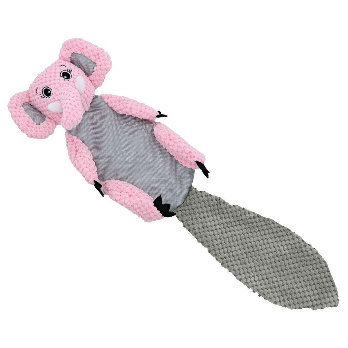 Play 365 Crinkle Flatty Dog Toy - Elephant