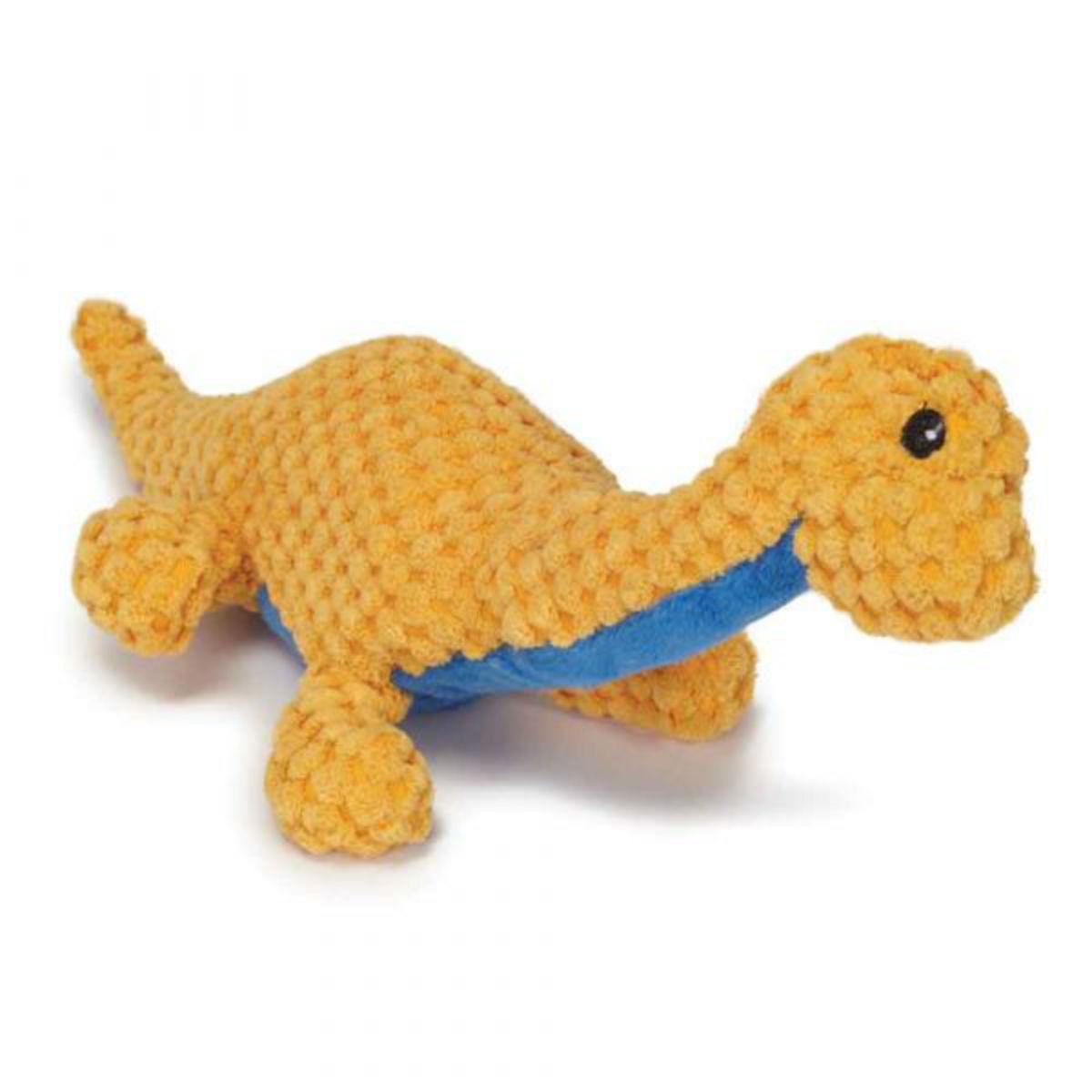 Play 365 Jurassic Cord Crew Brachiosaur Dog Toy - Orange