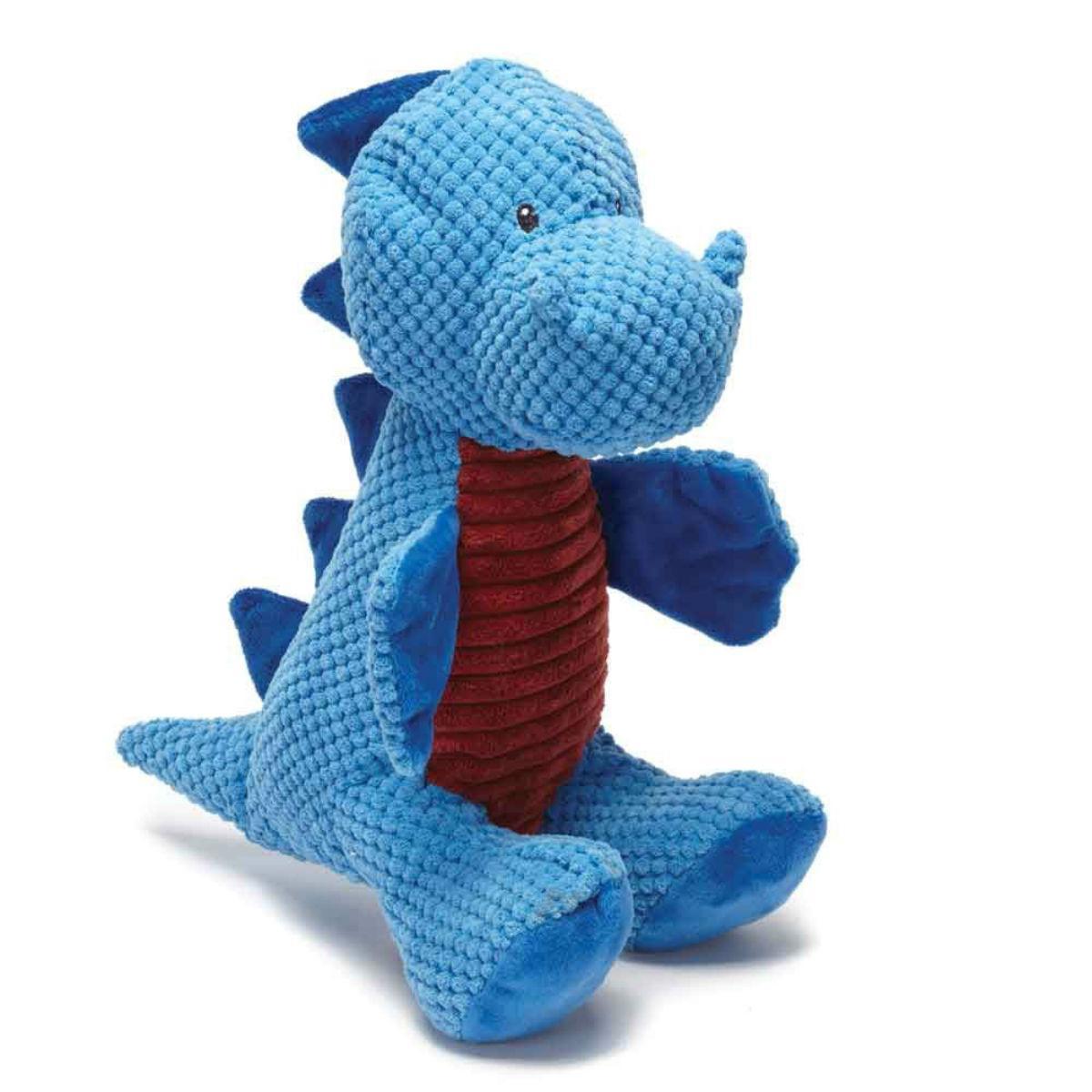 Play 365 Jurassic Cord Crew Sit T-Rex Dog Toy - Blue