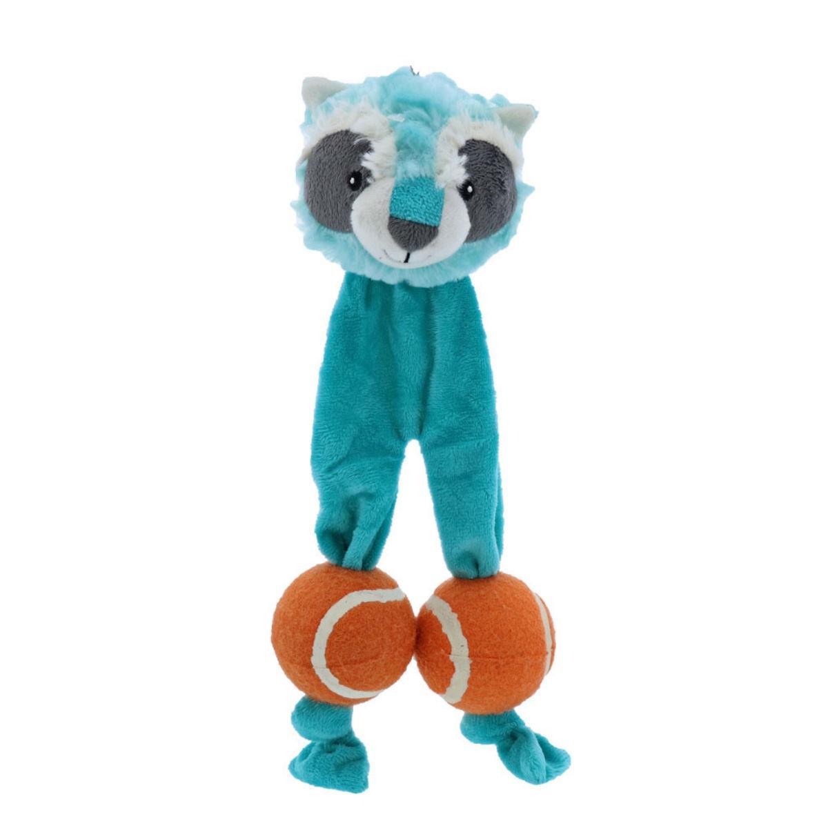 Play 365 Tennis Legs Dog Toy - Raccoon