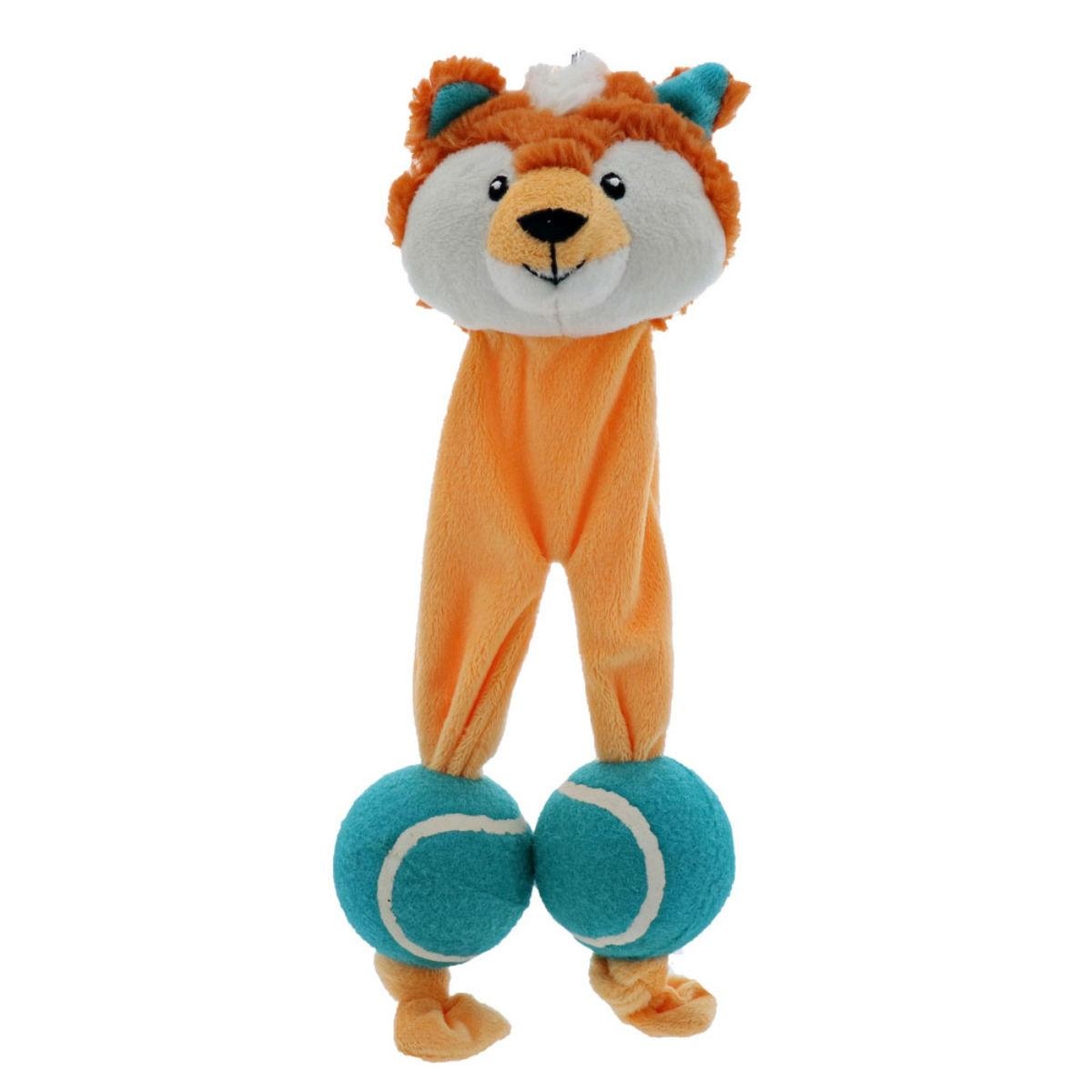 Play 365 Tennis Legs Dog Toy - Fox