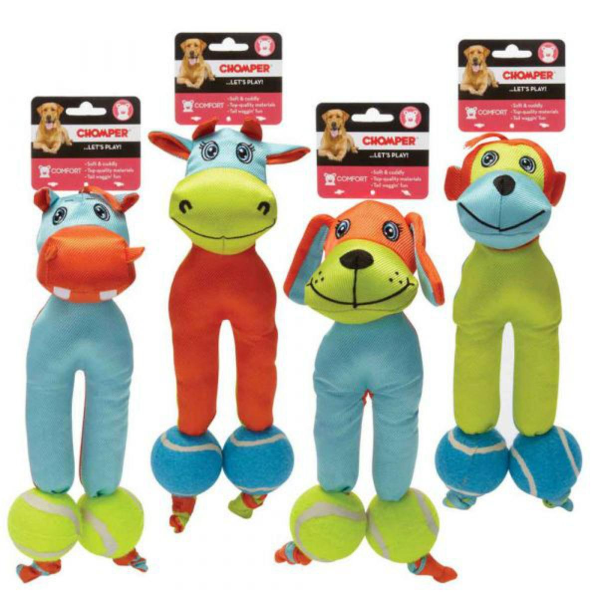Chomper Tennis Tots Dog Toy