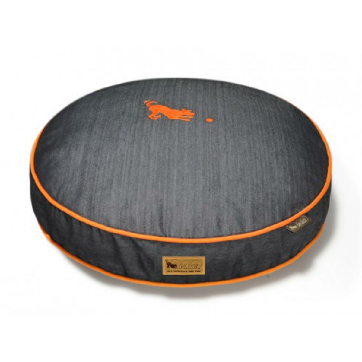 P.L.A.Y. Denim Round Dog Bed - Orange