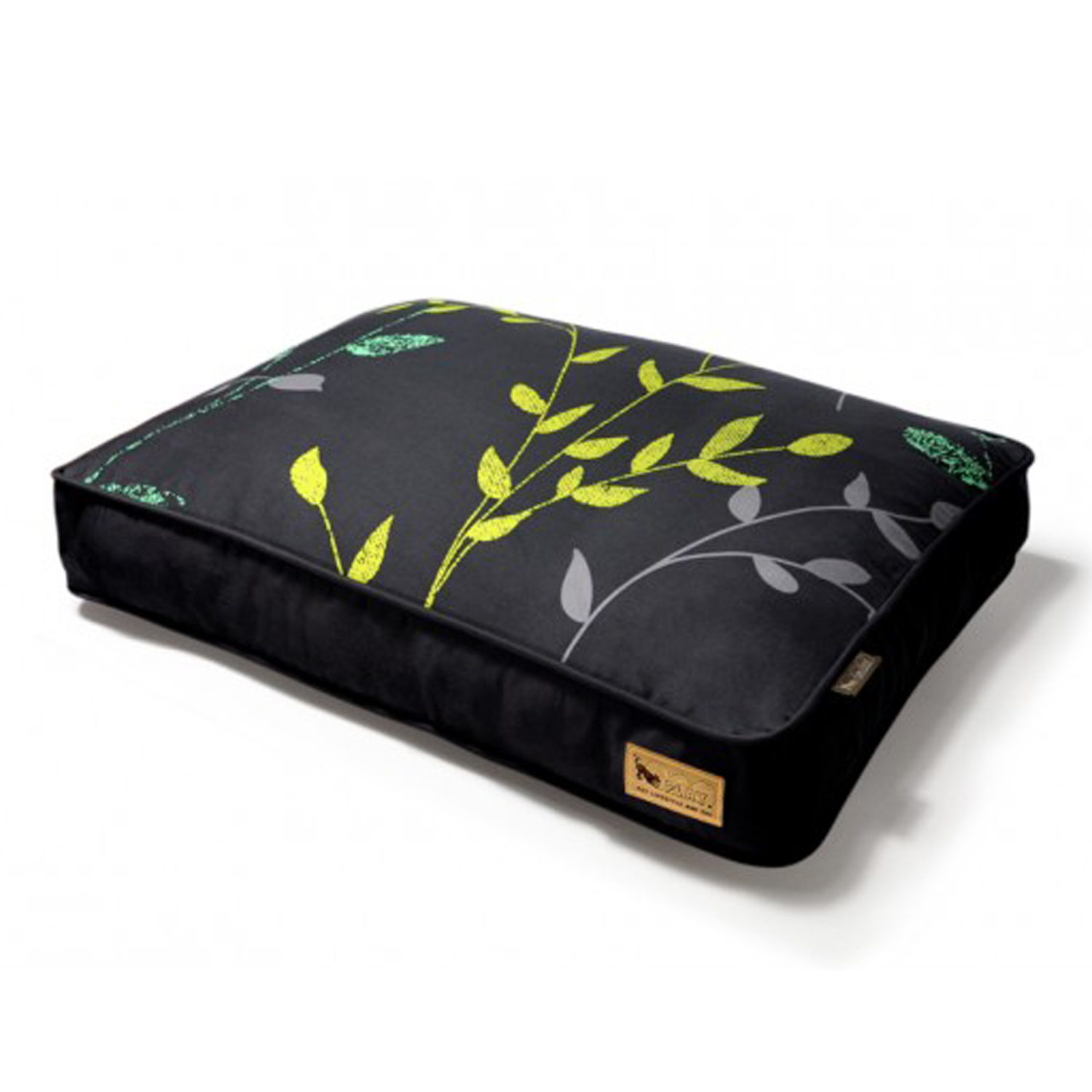 P.L.A.Y. Greenery Rectangular Dog Bed Replacement Cover - Slate and Dark Gray