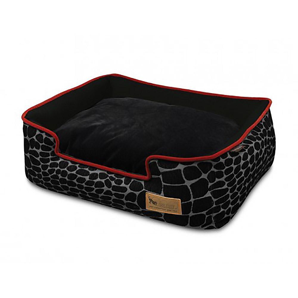 P.L.A.Y. Kalahari Lounge Dog Bed - Black Giraffe
