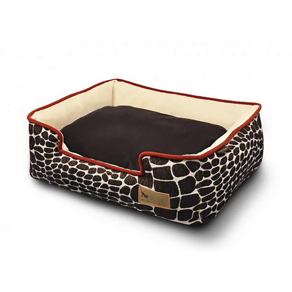 P.L.A.Y. Kalahari Lounge Dog Bed - Brown Giraffe