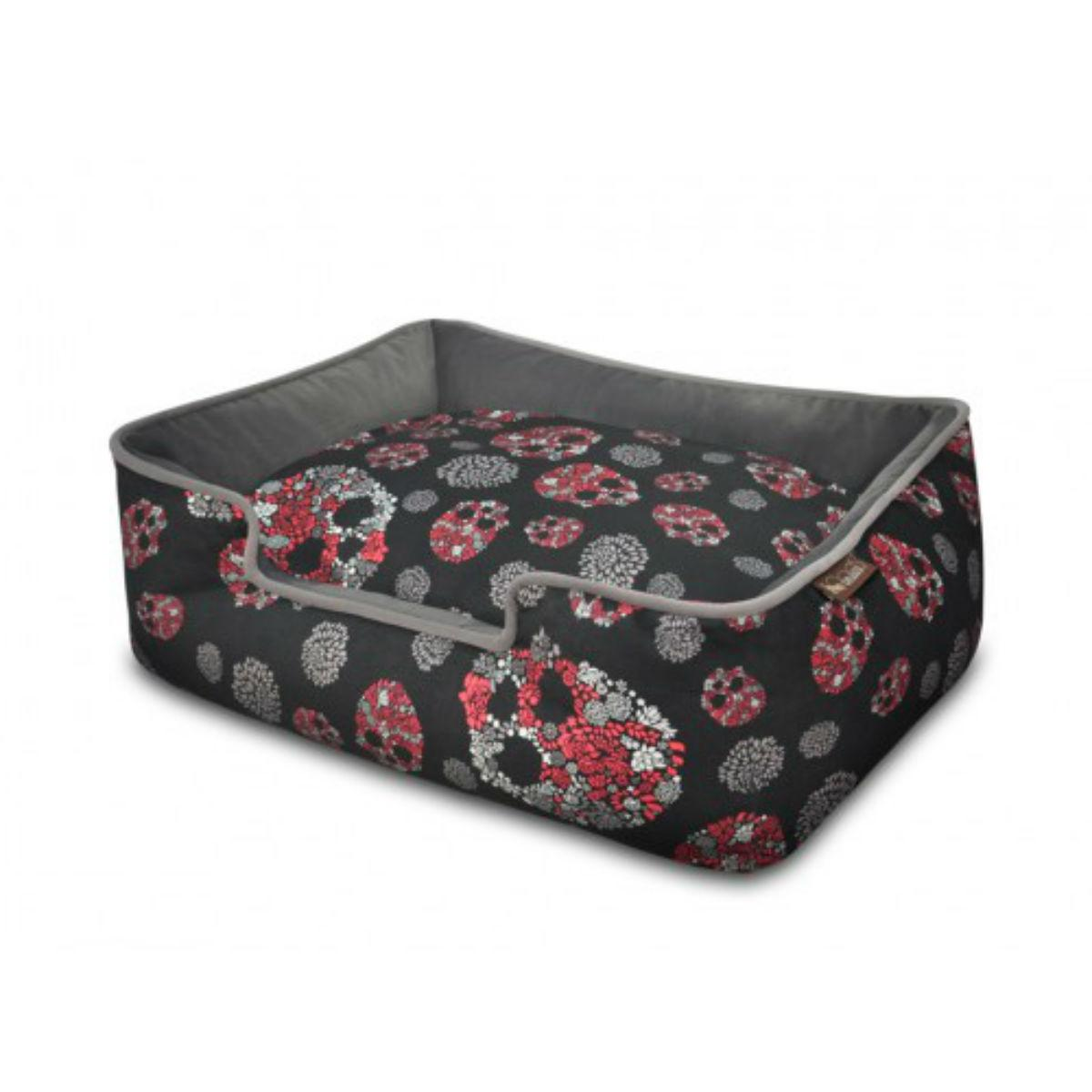 P.L.A.Y. Skulls and Roses Lounge Dog Bed