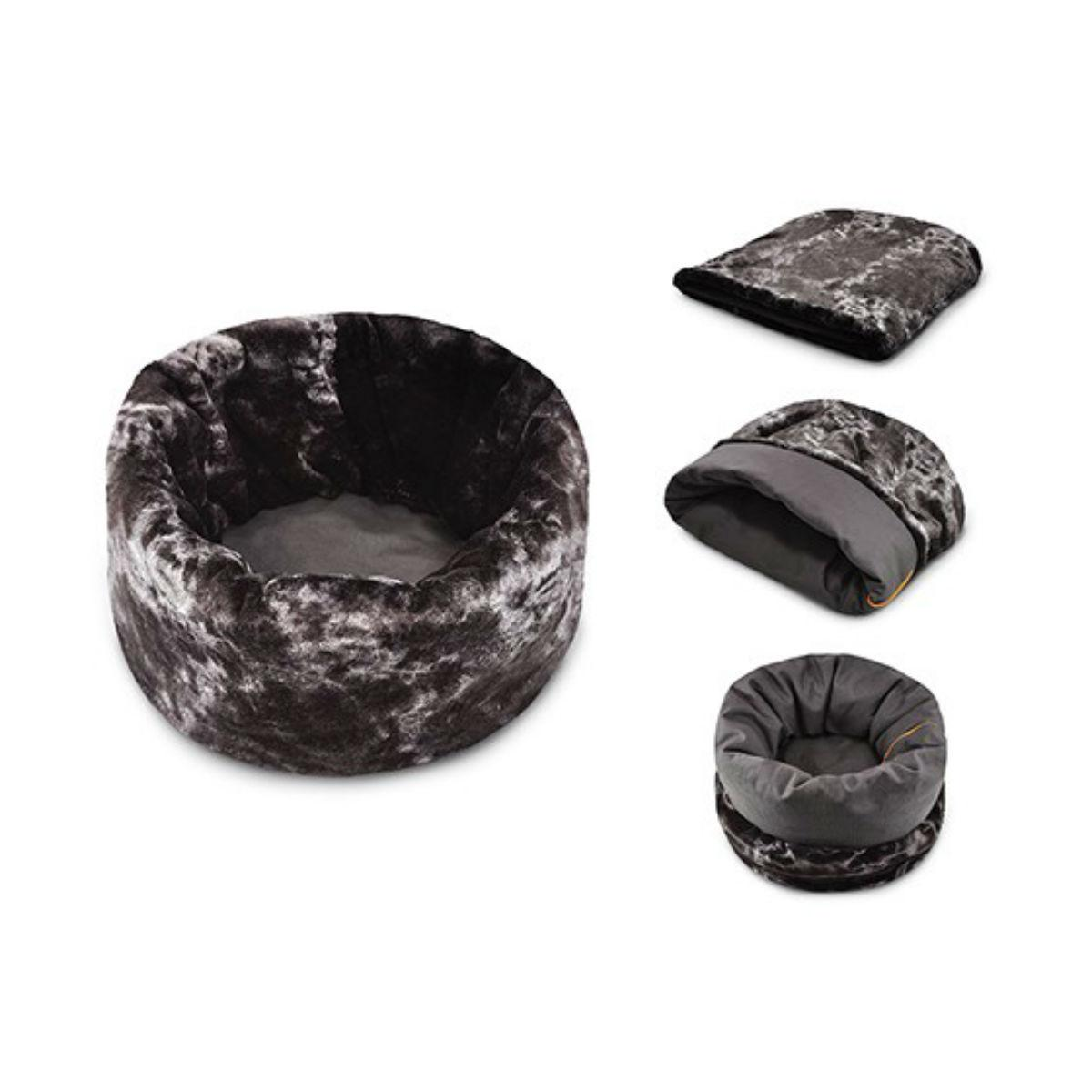 P.L.A.Y. Snuggle Dog Bed - Charcoal Gray
