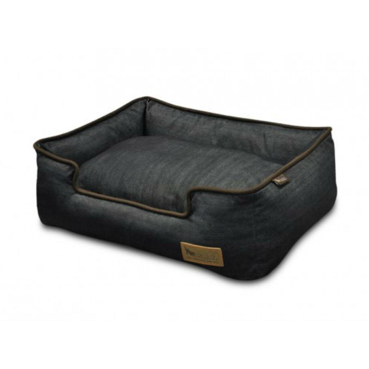P.L.A.Y. Urban Denim Lounge Dog Bed - Medieval Blue and Dark Chocolate