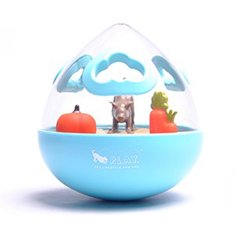 P.L.A.Y. Wobble Ball Enrichment Dog Toy - Blue