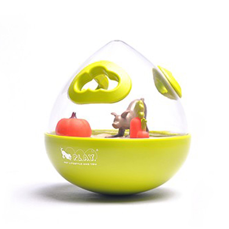 P.L.A.Y. Wobble Ball Enrichment Dog Toy - Green