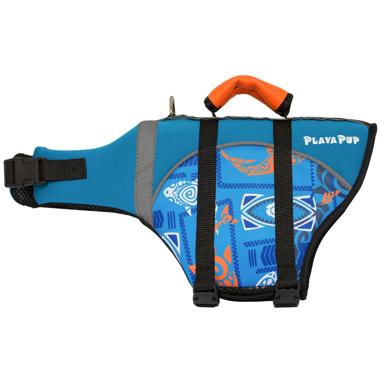 Playa Pup Dog Lifejacket - Tribal Shark Night Blue