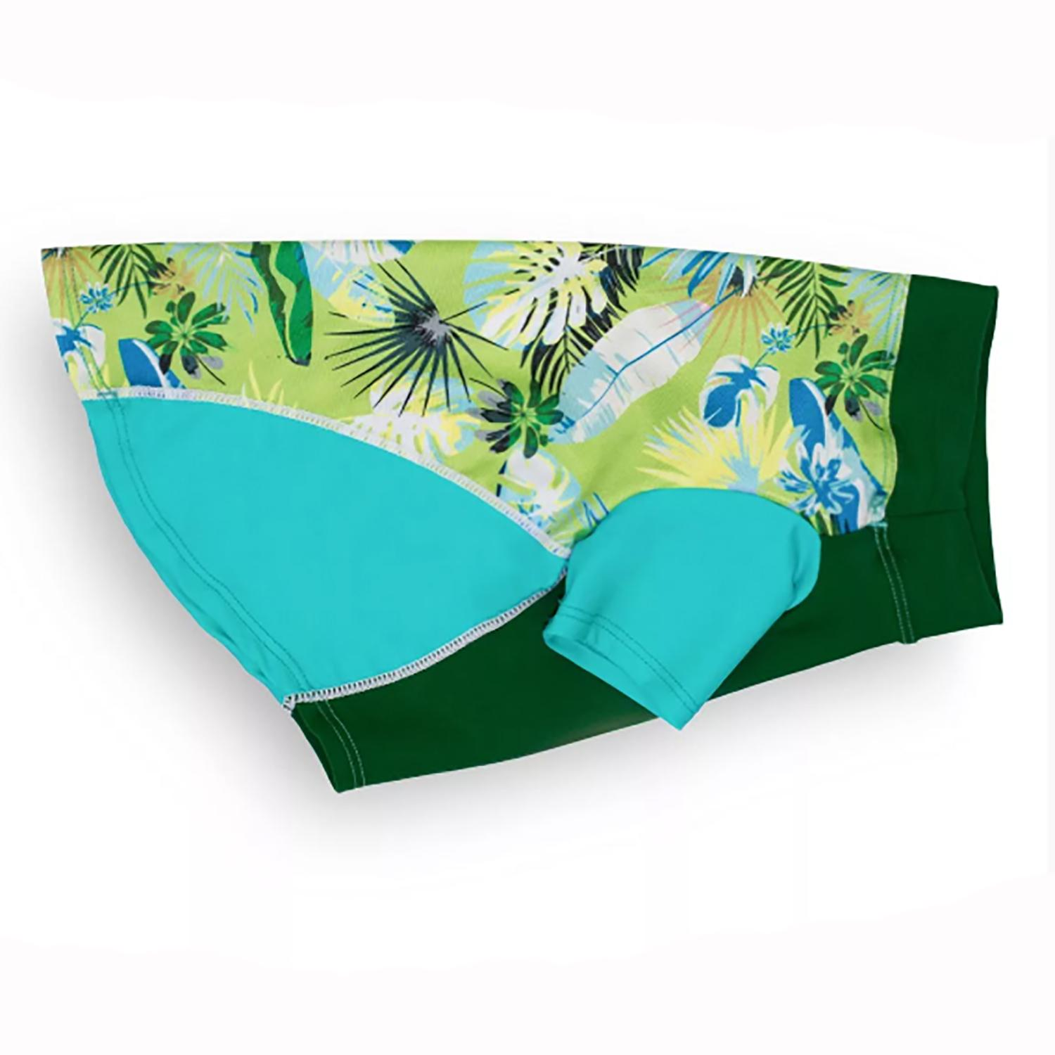 Playa Pup Sun Protection Dog Shirt - Tropical Treasure Green