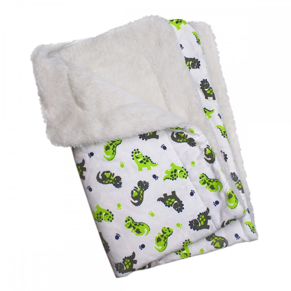 Playful Dinosaurs Ultra Soft Minky/Plush Dog Blanket by Klippo