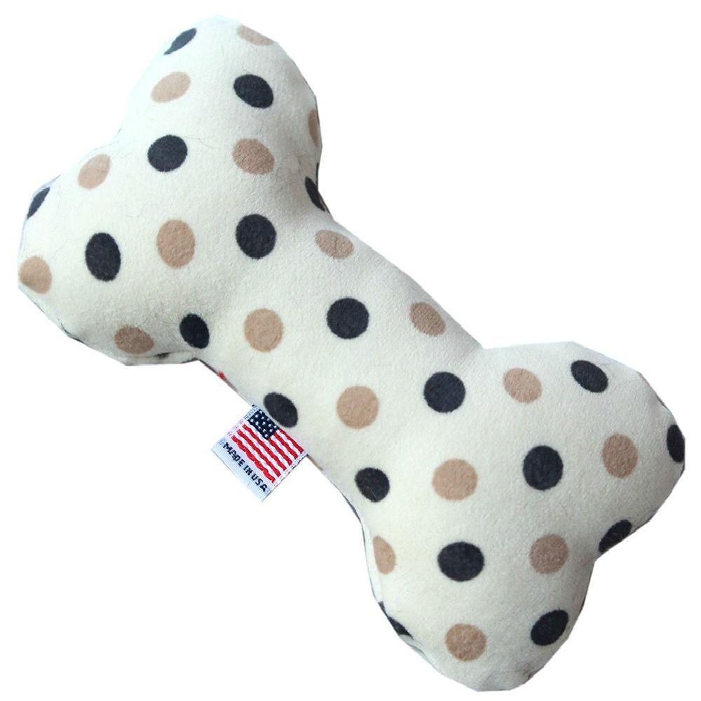 Plush Bone Dog Toy - Beach Dots