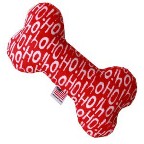 Plush Bone Dog Toy - Santa Says