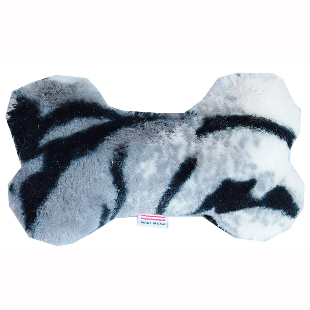 Plush Bone Dog Toy - Siberian Tiger