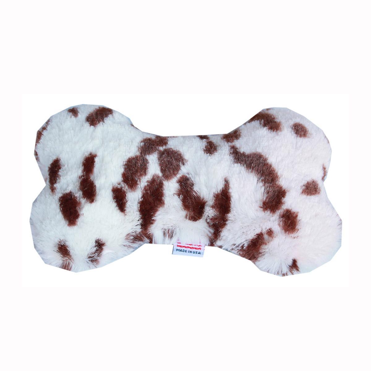 Plush Bone Dog Toy - Snow Leopard
