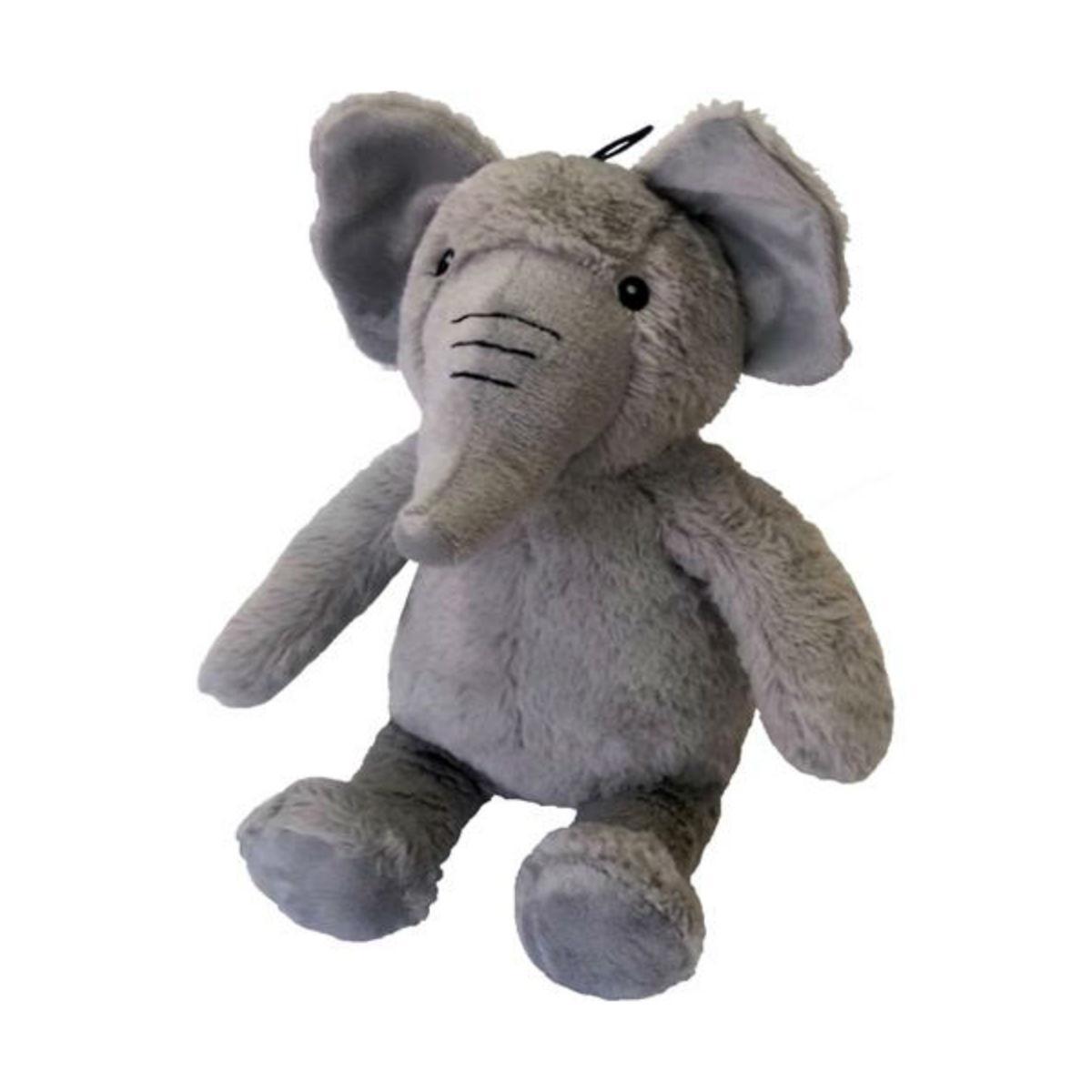 Plush Elephant Dog Toy - Gray
