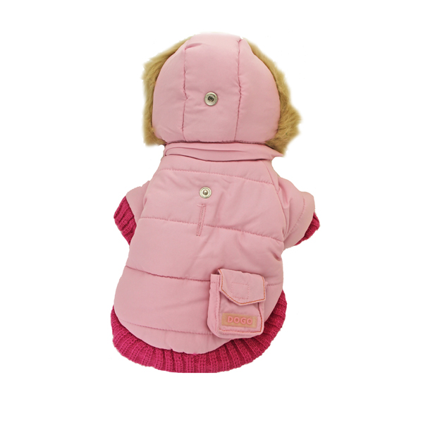 Pocket Dog Parka by Dogo - Pink