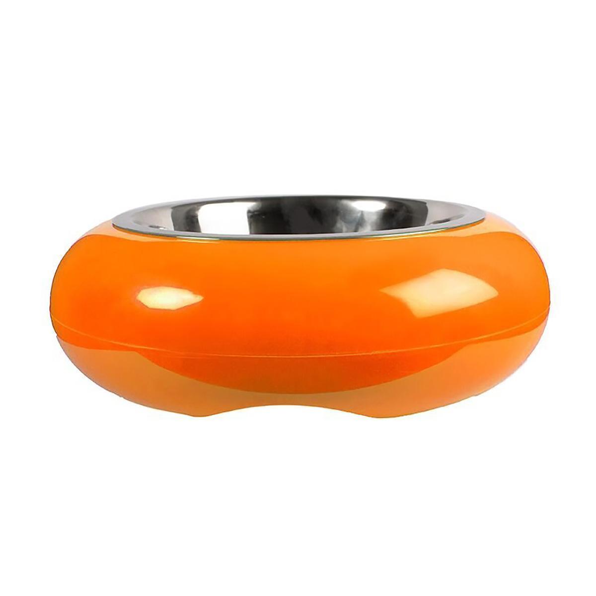 The Pod Bowl Non-Slip Dog Bowl by Hing - Orange