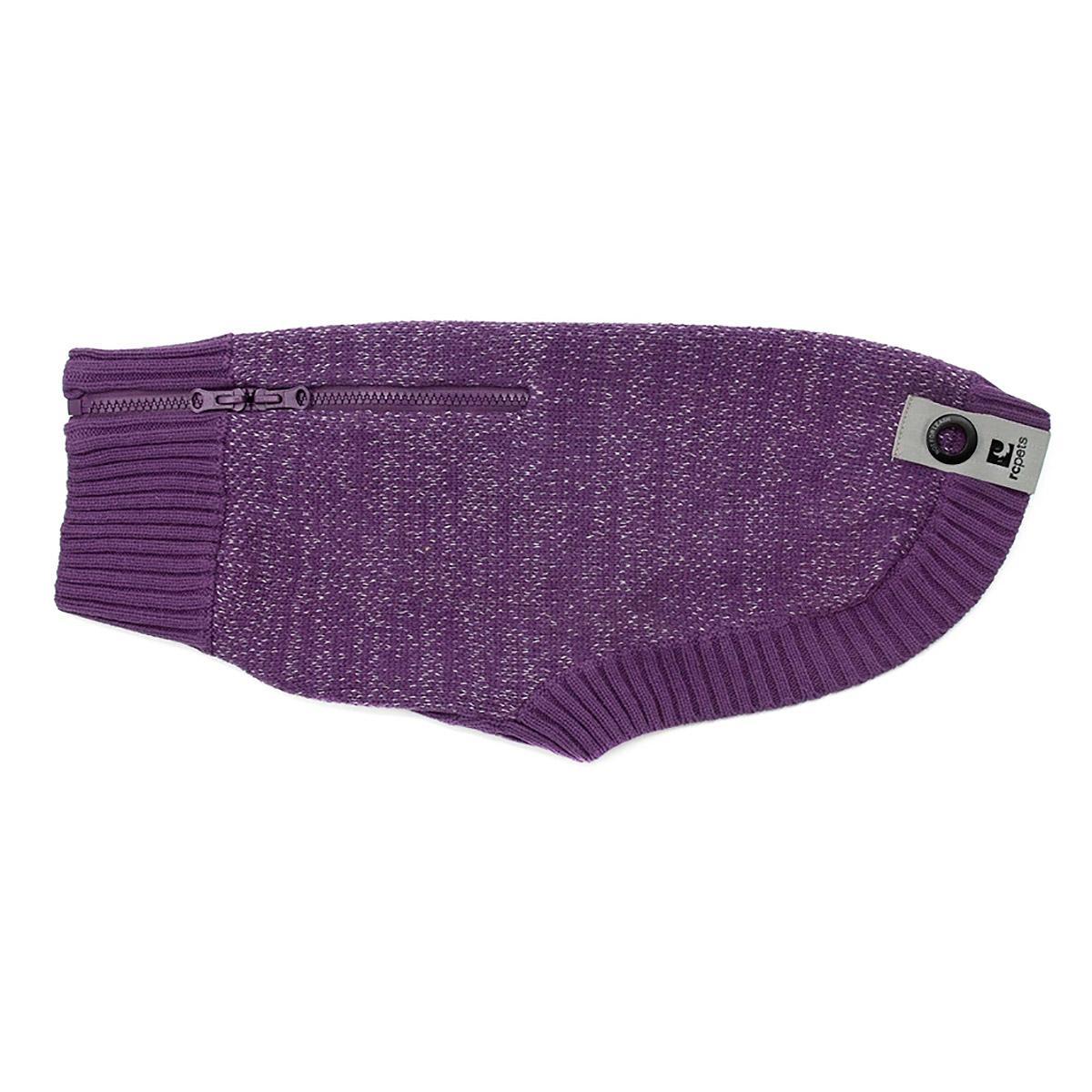 Polaris Reflective Dog Sweater - Plum Purple