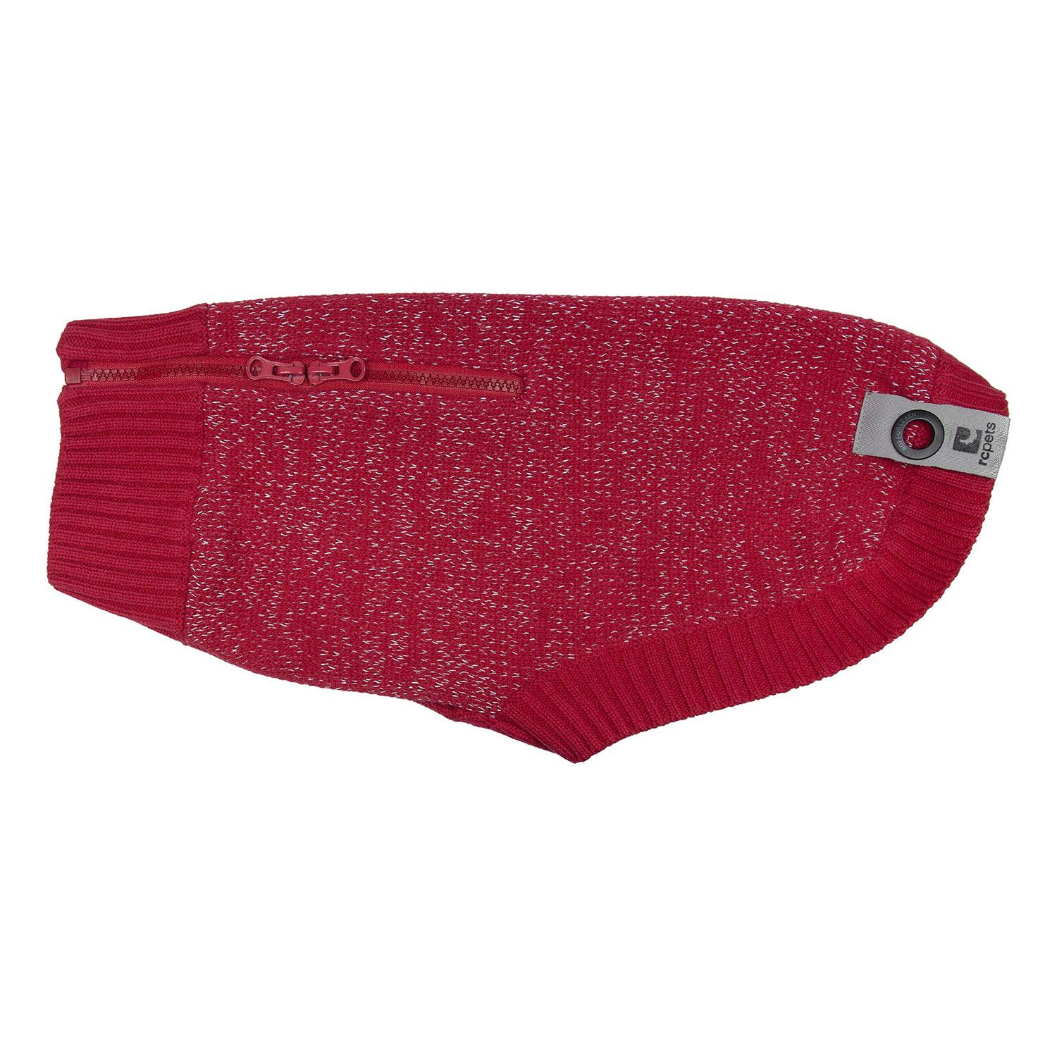 Polaris Reflective Dog Sweater - Red