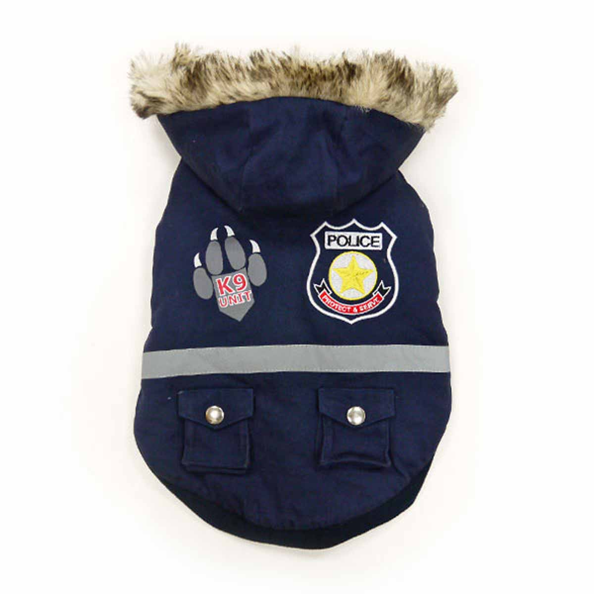 Police Dog Jacket by Dogo - Navy Blue