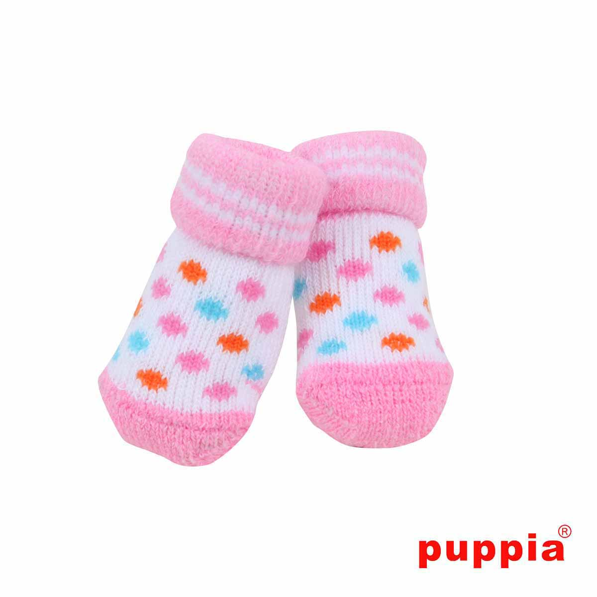 Polka Dot Dog Socks by Puppia - Pink