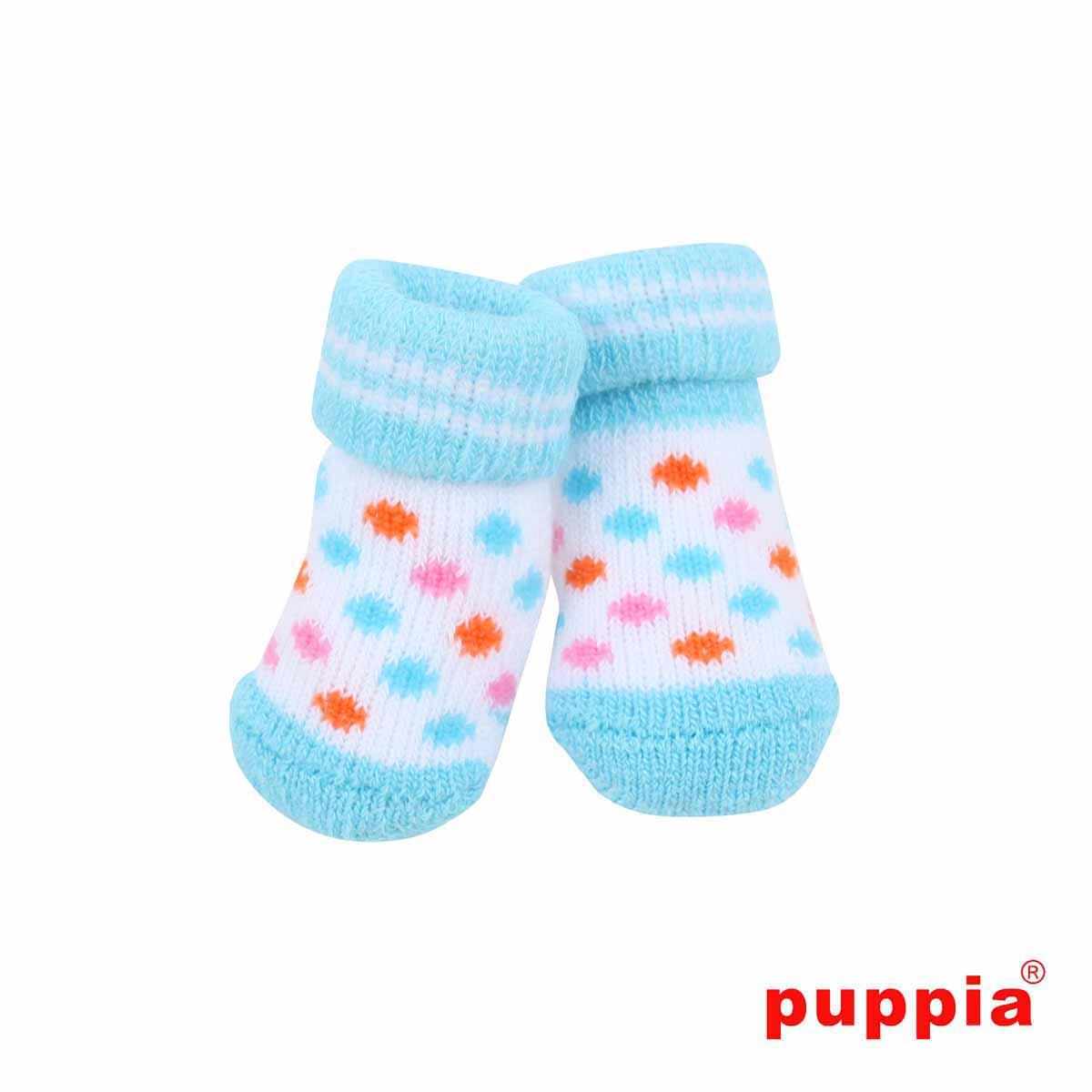Polka Dot Dog Socks by Puppia - Sky Blue