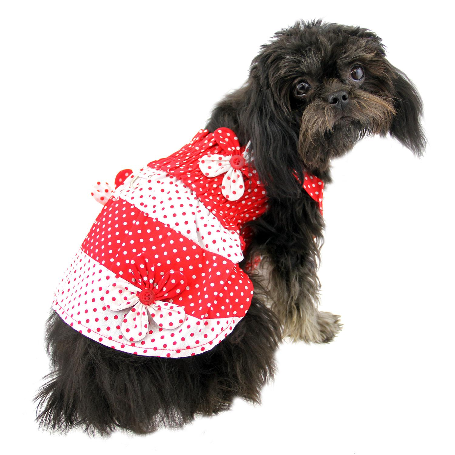 337013333b Polka Dot Dog Sundress by Klippo - Red and Wh...