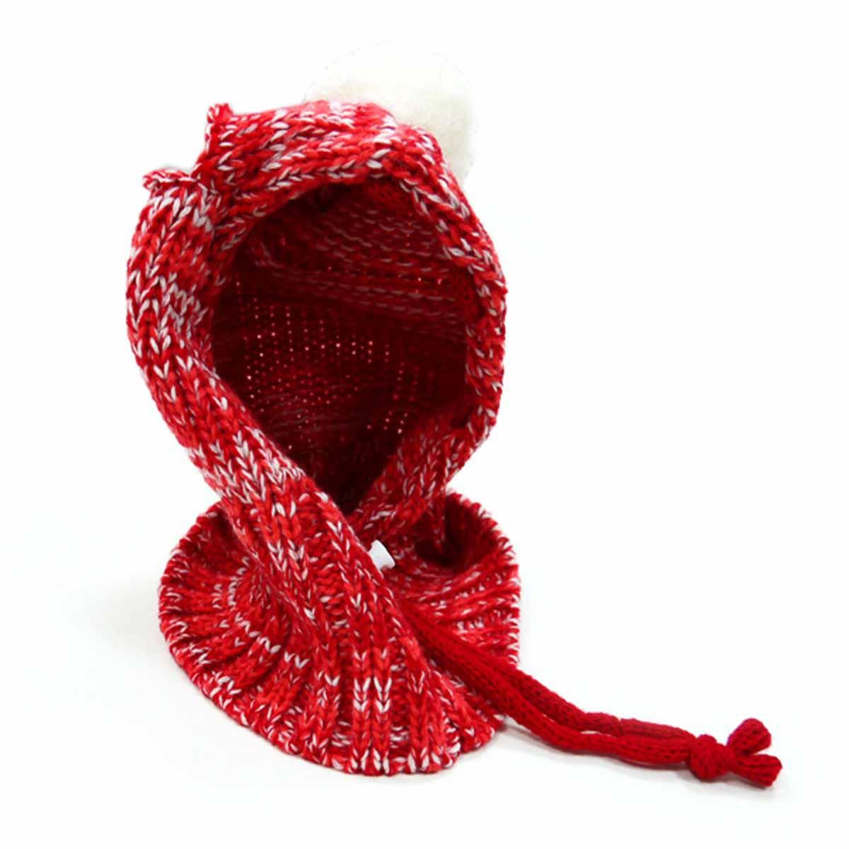 Pom Sweater Dog Hat by Dogo - Red