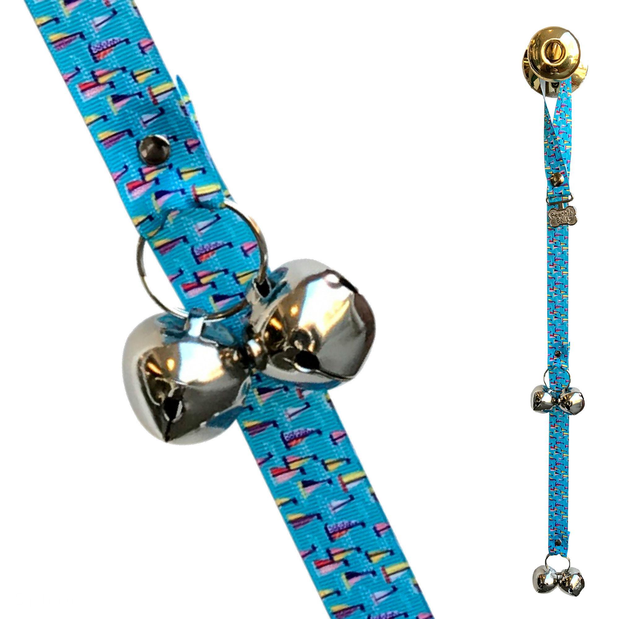 Poochie Bells Dog Doorbell Coastal Collection - Sailboats