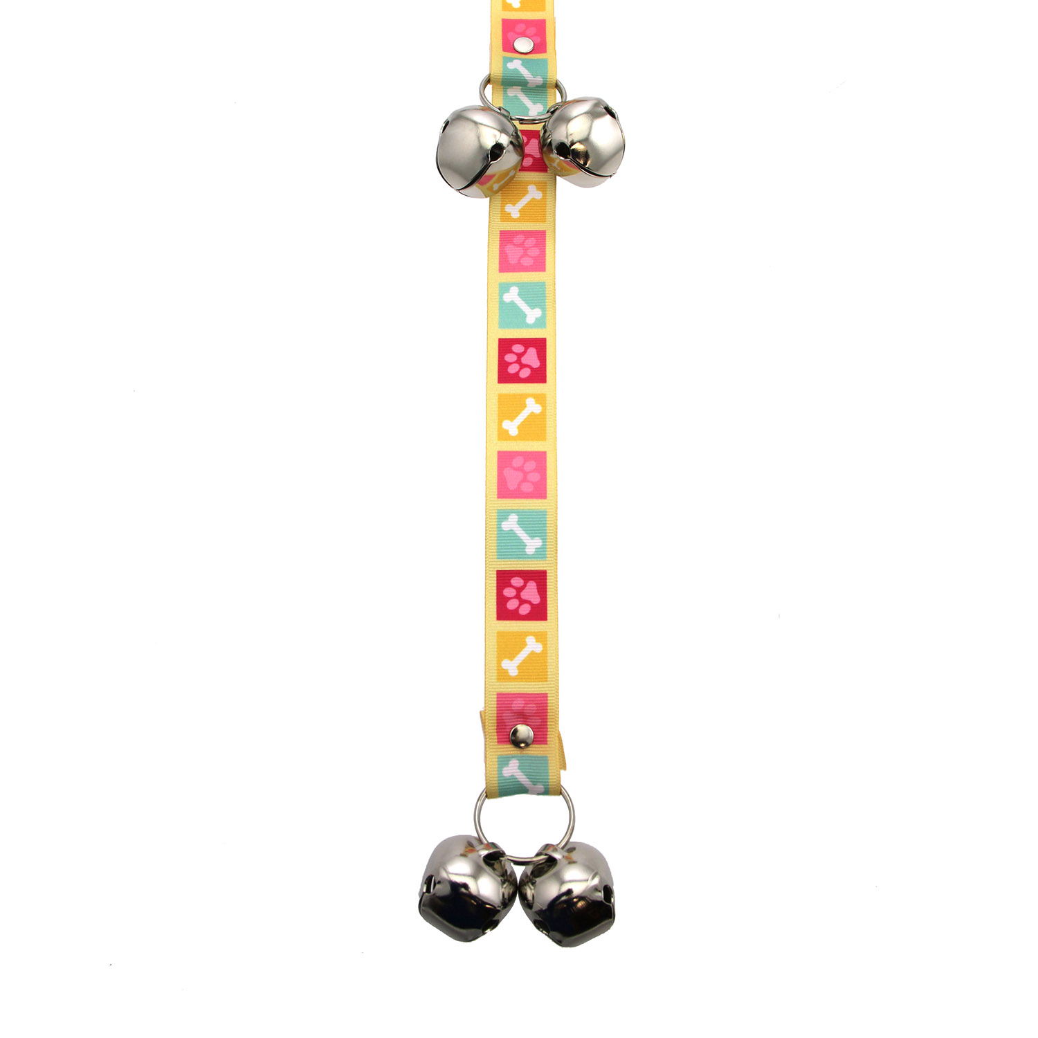 Poochie Bells Dog Doorbell Potty Alert - Bone Appetite Pink