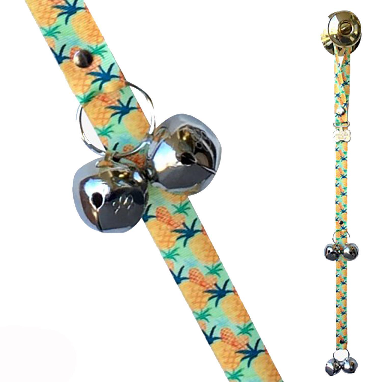 Poochie Bells Fashionable Dog Doorbell - Welcome (Pineapples)