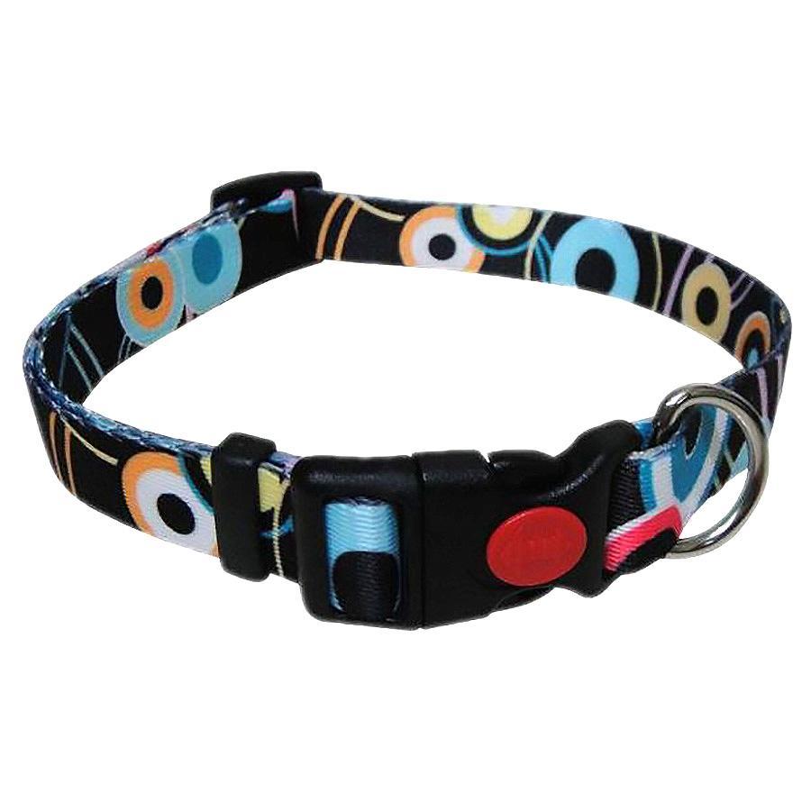 Pop Circle Dog Collar - Black