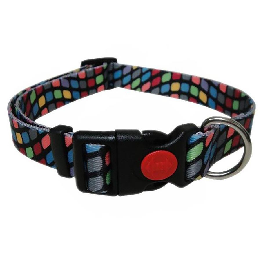 Pop Square Dog Collar - Black