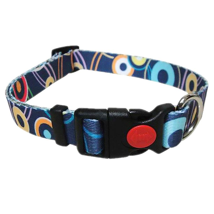 Pop Circle Dog Collar - Blue