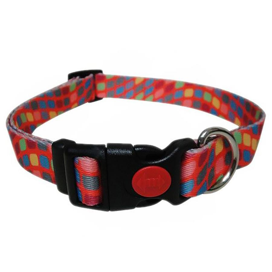 Pop Square Dog Collar - Orange
