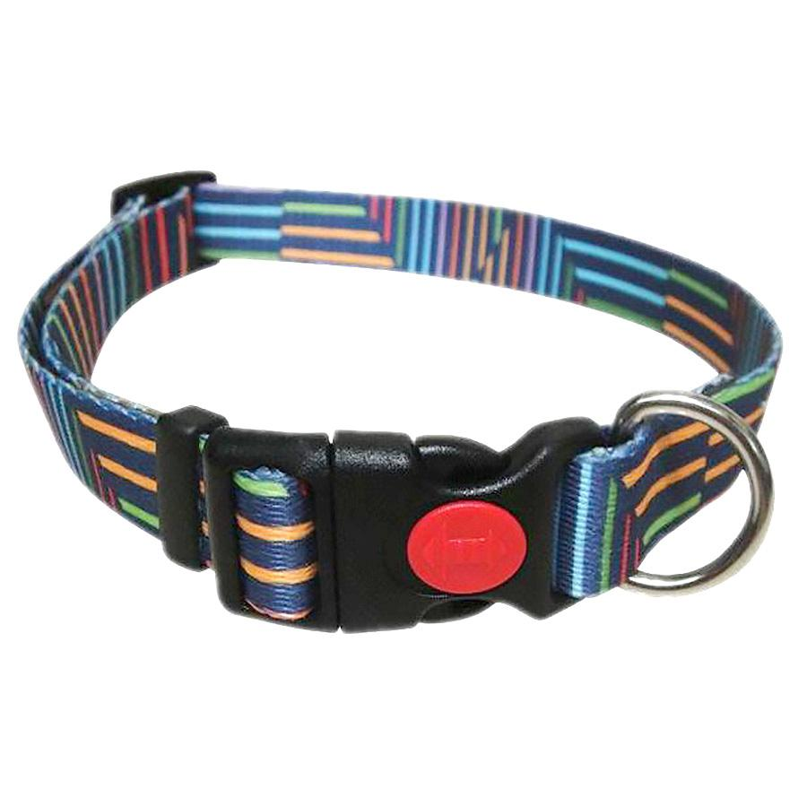 Pop Stripe Dog Collar - Blue