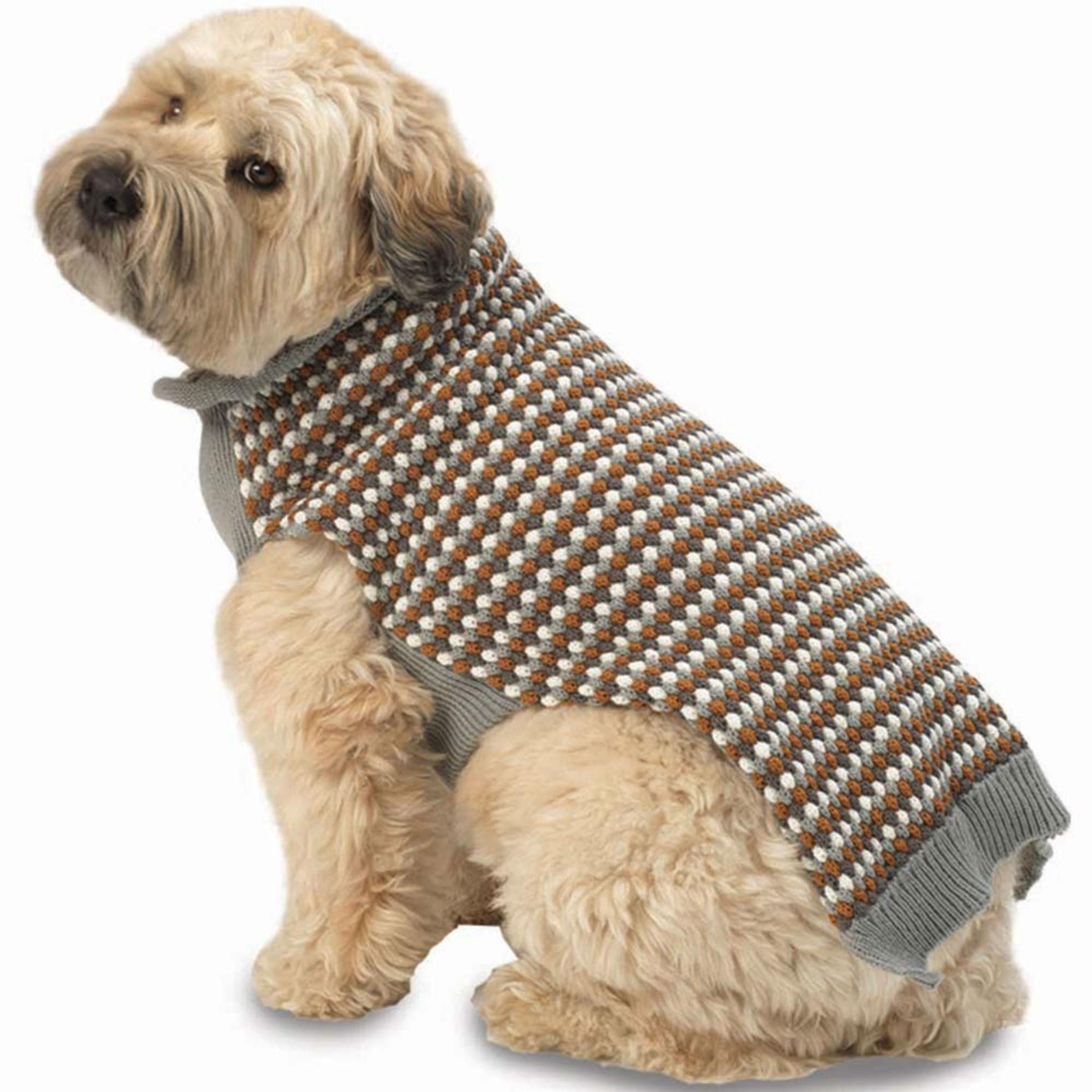 Popper's Dog Sweater - Gray Multi