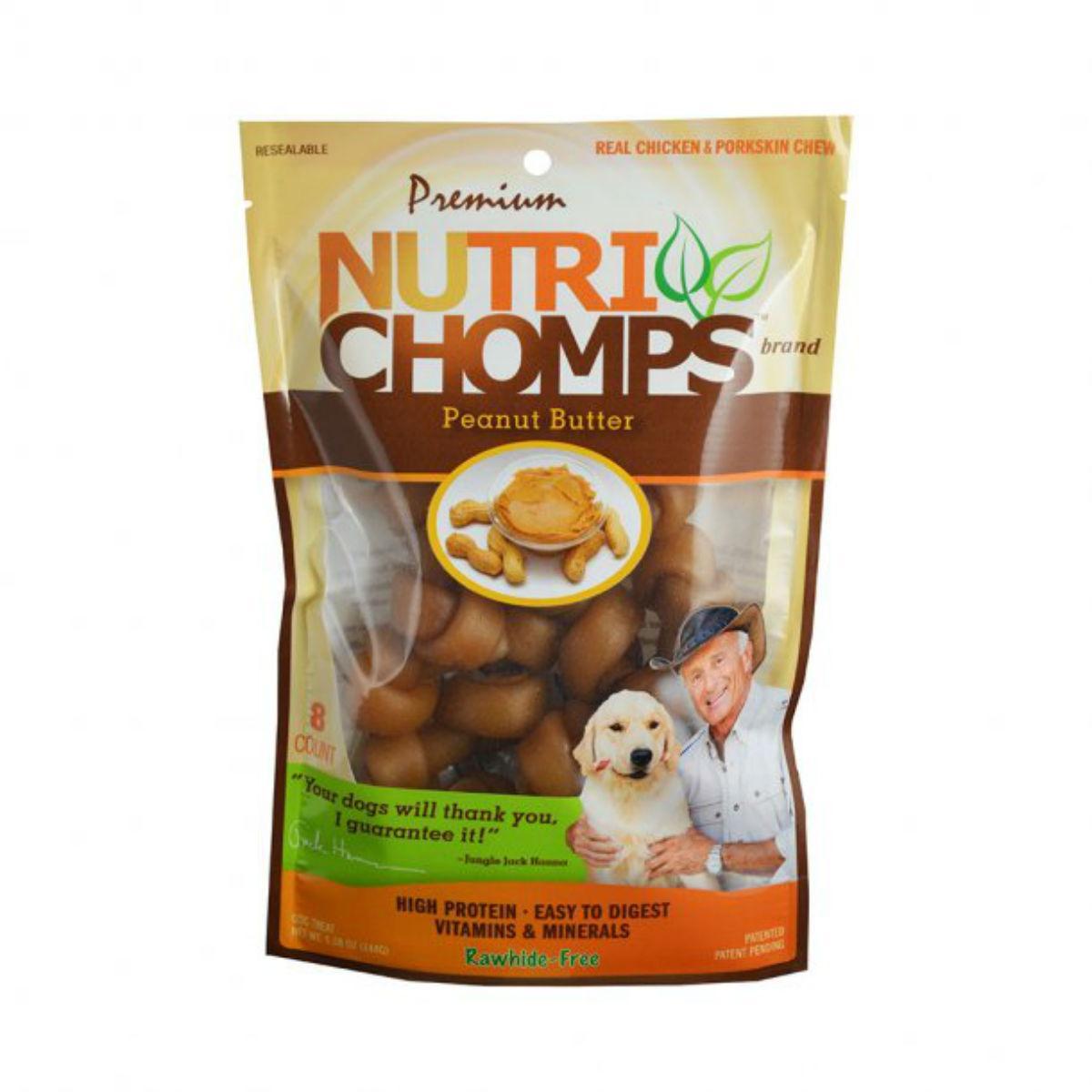 Nutri Chomps Mini Knotz Dog Treats - Peanut Butter