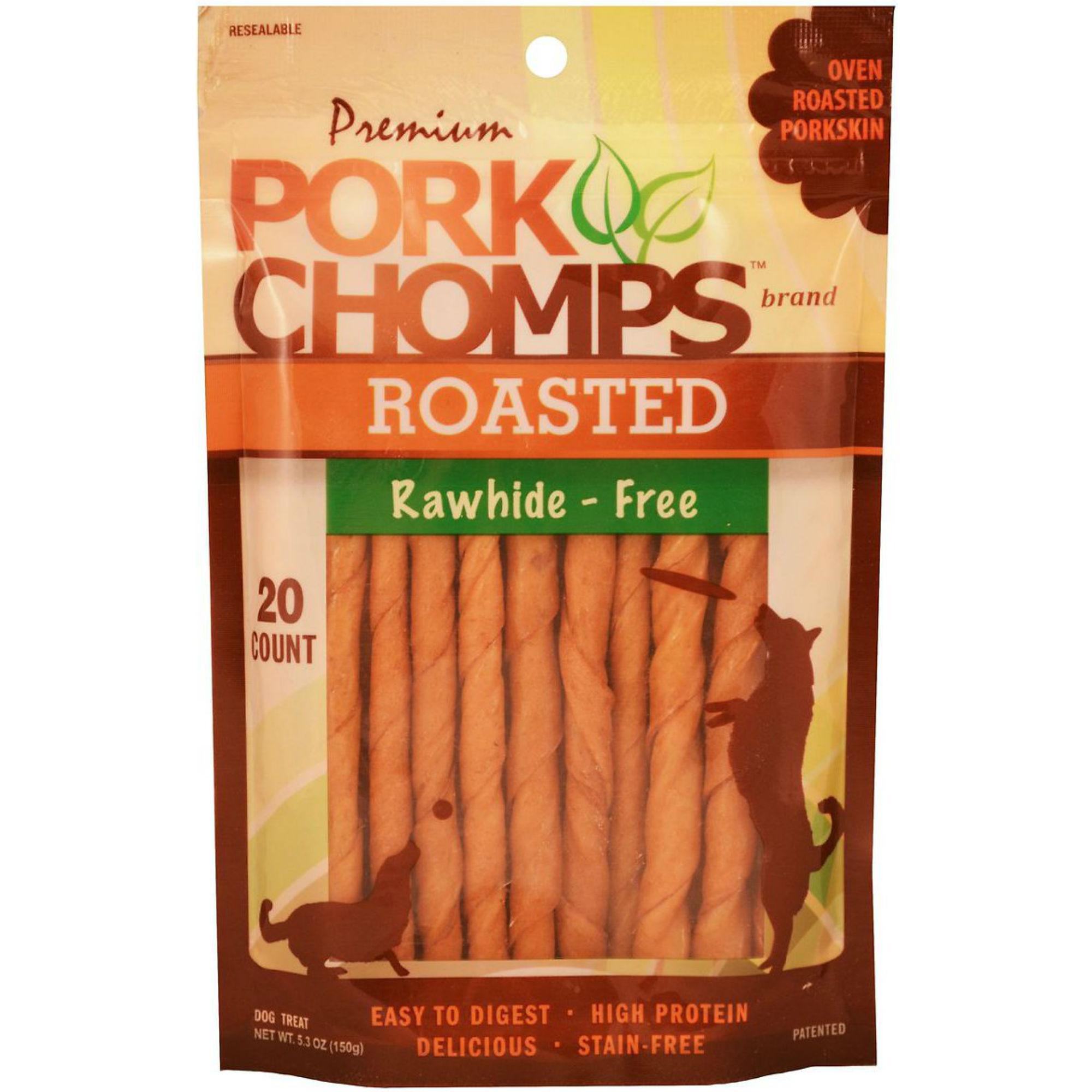Pork Chomps Roasted Mini Twists Dog Treats